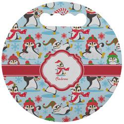 Christmas Penguins Stadium Cushion (Round) (Personalized)