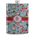 Christmas Penguins Stainless Steel Flask (Personalized)