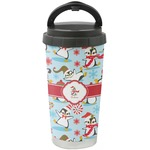 Christmas Penguins Stainless Steel Travel Mug (Personalized)