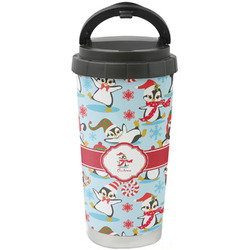 Christmas Penguins Stainless Steel Coffee Tumbler (Personalized)