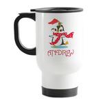 Christmas Penguins Stainless Steel Travel Mug with Handle