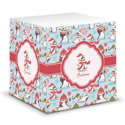 Christmas Penguins Sticky Note Cube (Personalized)