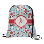 Christmas Penguins Drawstring Backpack (Personalized)