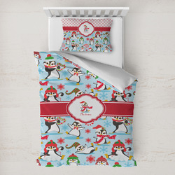 Christmas Penguins Toddler Bedding w/ Name or Text