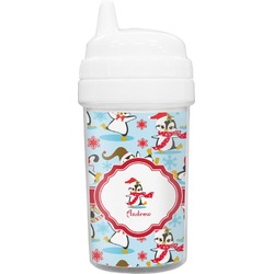 Christmas Penguins Toddler Sippy Cup (Personalized)