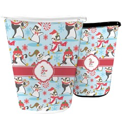 Christmas Penguins Waste Basket (Personalized)