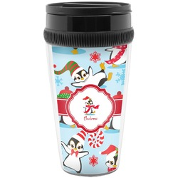 Christmas Penguins Travel Mug (Personalized)