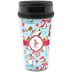 Christmas Penguins Travel Mug (Personalized)