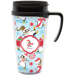 Christmas Penguins Travel Mug with Handle (Personalized)