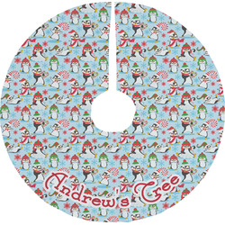 Christmas Penguins Tree Skirt (Personalized)