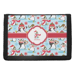 Christmas Penguins Trifold Wallet (Personalized)