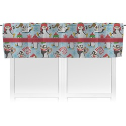 Christmas Penguins Valance (Personalized)