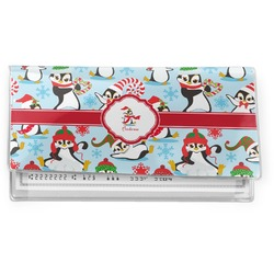 Christmas Penguins Vinyl Checkbook Cover (Personalized)