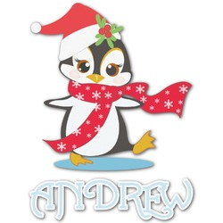 Christmas Penguins Graphic Decal - Custom Sized (Personalized)