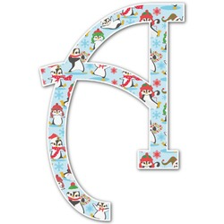 Christmas Penguins Letter Decal - Large (Personalized)