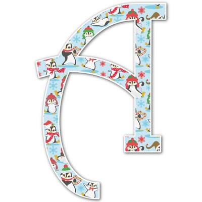 Christmas Penguins Letter Decal - Custom Sizes (Personalized)