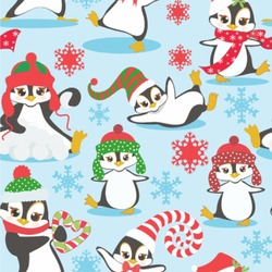 Christmas Penguins Wallpaper & Surface Covering