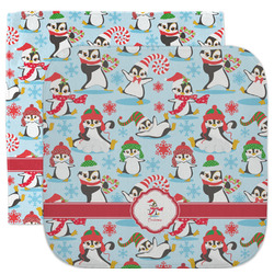 Christmas Penguins Facecloth / Wash Cloth (Personalized)