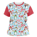 Christmas Penguins Women's Crew T-Shirt (Personalized)
