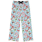 Christmas Penguins Womens Pajama Pants (Personalized)