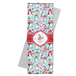 Christmas Penguins Yoga Mat Towel (Personalized)