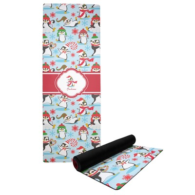 Christmas Penguins Yoga Mat (Personalized)