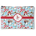Christmas Penguins Zipper Pouch (Personalized)