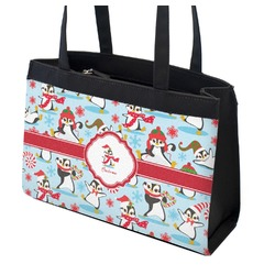 Christmas Penguins Zippered Everyday Tote (Personalized)