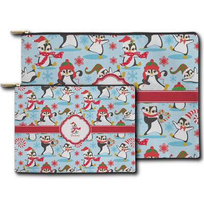 Christmas Penguins Zipper Pouch (Personalized)