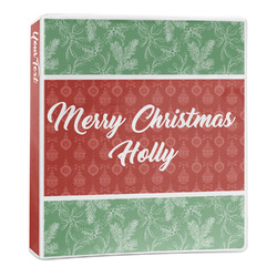 Christmas Holly 3-Ring Binder - 1 inch (Personalized)