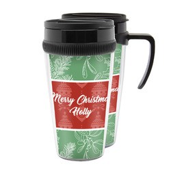 Christmas Holly Acrylic Travel Mugs (Personalized)