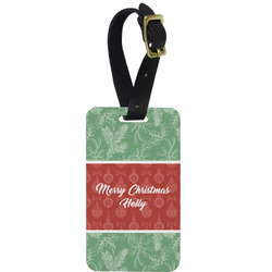 Christmas Holly Aluminum Luggage Tag (Personalized)