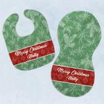 Christmas Holly Baby Bib & Burp Set w/ Name or Text