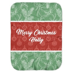 Christmas Holly Baby Swaddling Blanket (Personalized)