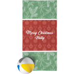 Christmas Holly Beach Towel (Personalized)