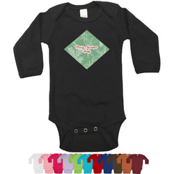 Christmas Holly Bodysuit - Long Sleeves - 0-3 months (Personalized)