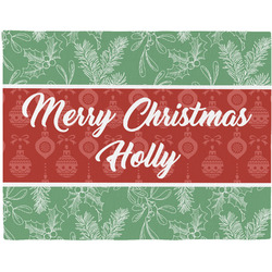 Christmas Holly Placemat (Fabric) (Personalized)