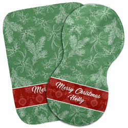 Christmas Holly Burp Cloth (Personalized)