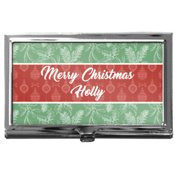 Christmas Holly Business Card Case