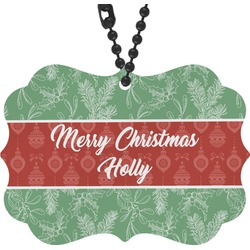 Christmas Holly Rear View Mirror Charm (Personalized)