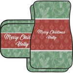 Christmas Holly Car Floor Mats (Personalized)