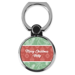 Christmas Holly Cell Phone Ring Stand & Holder (Personalized)