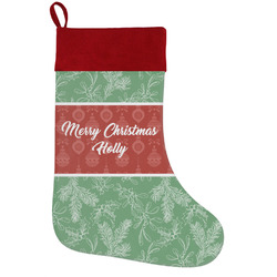 Christmas Holly Holiday Stocking w/ Name or Text
