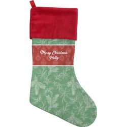 Christmas Holly Christmas Stocking - Single-Sided (Personalized)