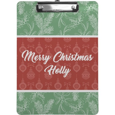 Christmas Holly Clipboard (Personalized)