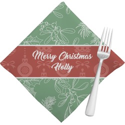 Christmas Holly Napkins (Set of 4) (Personalized)