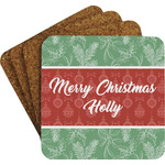 Christmas Holly Coaster Set w/ Stand (Personalized)