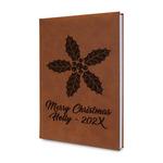 Christmas Holly Leatherette Journal (Personalized)