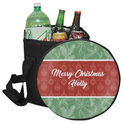 Christmas Holly Collapsible Cooler & Seat (Personalized)