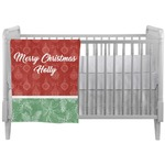 Christmas Holly Crib Comforter / Quilt (Personalized)